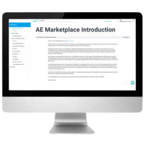 AE Marketplace introduction in Apple Mac Transparent