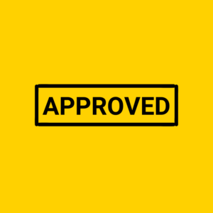 APPROVED BLACK AND YELLOW