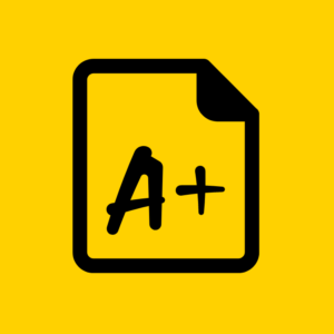 ATS Check and Grade your Linkedin Black and Yellow