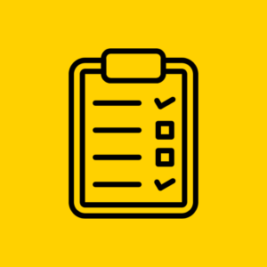 Job Search Planner and LinkedIn Checklist Black and Yellow