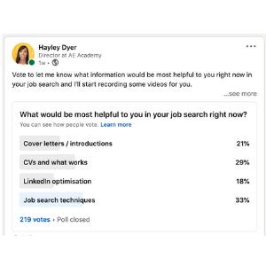 LinkedIn Poll Result PNG