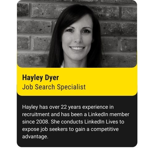 Hayley Dyer Job Search Specialist Bright Yellow 80% 2