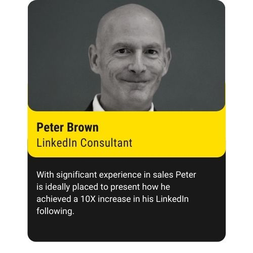 Peter brown LinkedIn Enthusiast 80% bright yellow